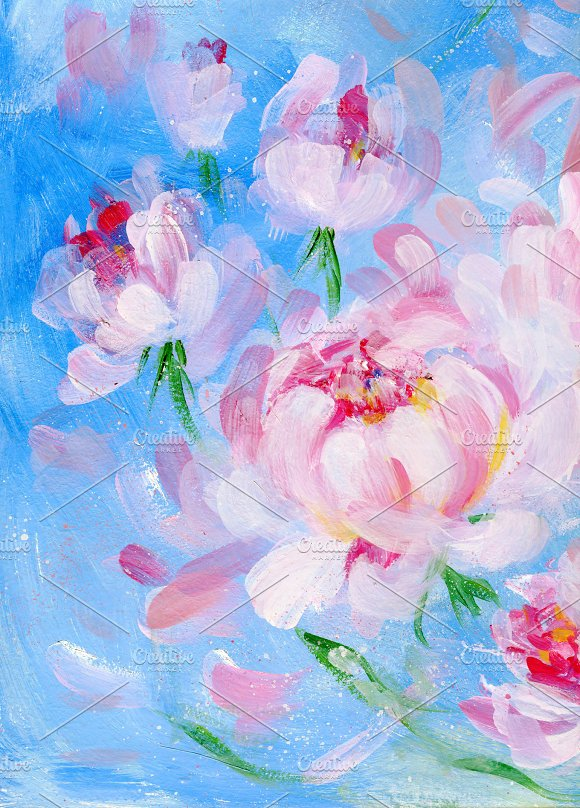 Blooming Peony Bouquet