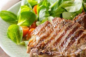 Grilled pork chops