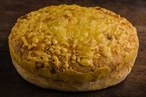 Cheese bread in oven