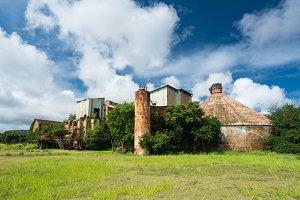 Abandoned buildings at old sugar mill at Koloa Kauai