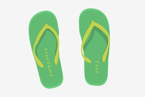 Beach slippers set