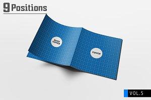 Square Brochure Mockups V.5