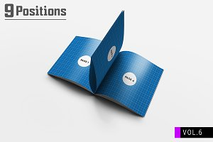Square Brochure Mockups V.6