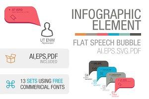 Infographic Flat speech bubble set