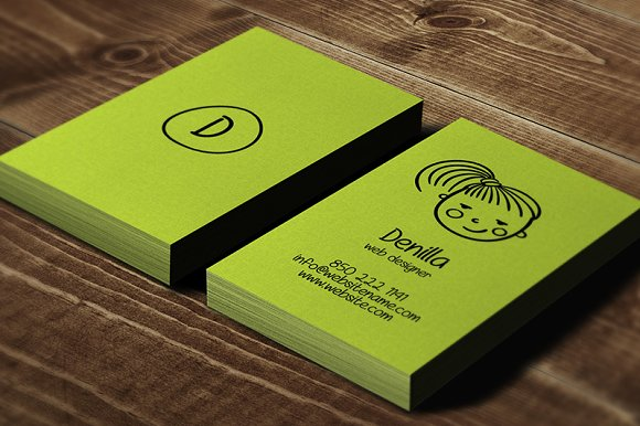 Avatar Individual Business Card Business Card Templates - Single business card template