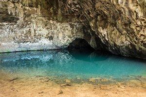 Waikapalae wet cave in Kauai