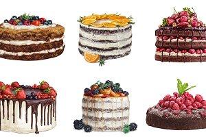 Delicious sweet cake set