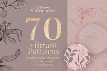 70 Gold Patterns & Illustrations