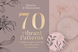 70 Gold Patterns & Illustrations