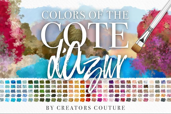 Color Palettes: Creators Couture - Colors of the Côte d'Azur