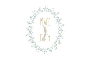 Peace on Earth Wreath Vector