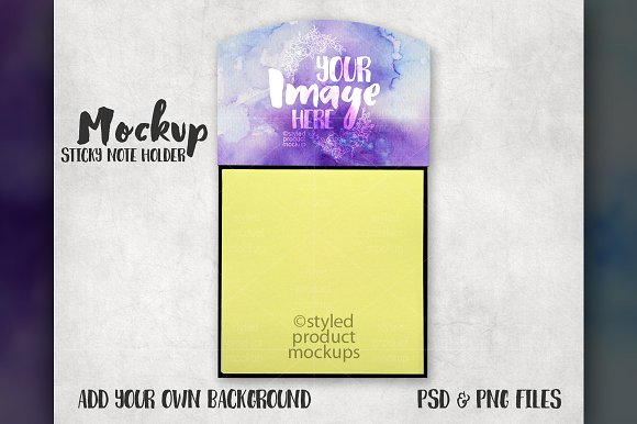 Sticky Note Holder Mockup