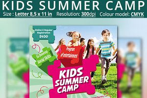 Kids Summer Camp Flyers