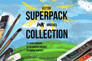 Superpack: 91 ink brushes.