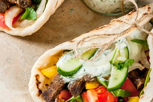 Wrapped sandwich gyros