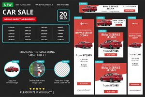 Car Sale Web Ad Marketing Banners