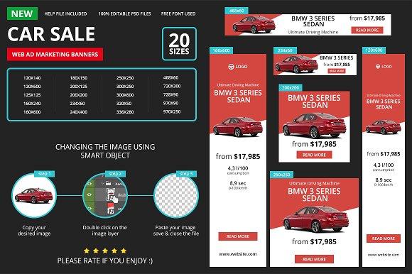 Car Sale Web Ad Marketing Banners