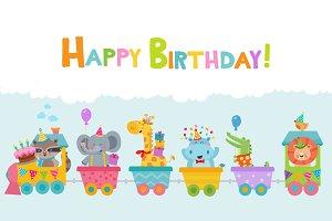 Birthday Animals Train