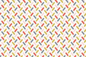 Modern Scribbles Vector Pattern