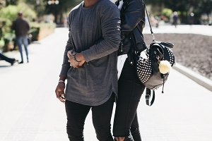 Stylish young african couple