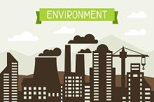 Environmental concept illustration.