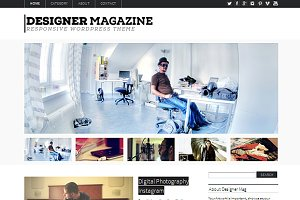 Designer Magazine WordPress Theme