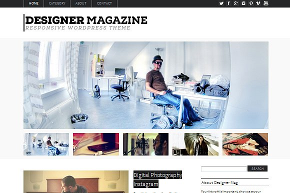 Designer Magazine WordPress Theme