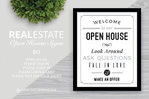 Welcome to Our Open House Signs