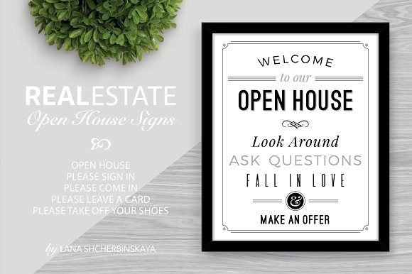Welcome to Our Open House Signs Presentation Templates – Open House Template