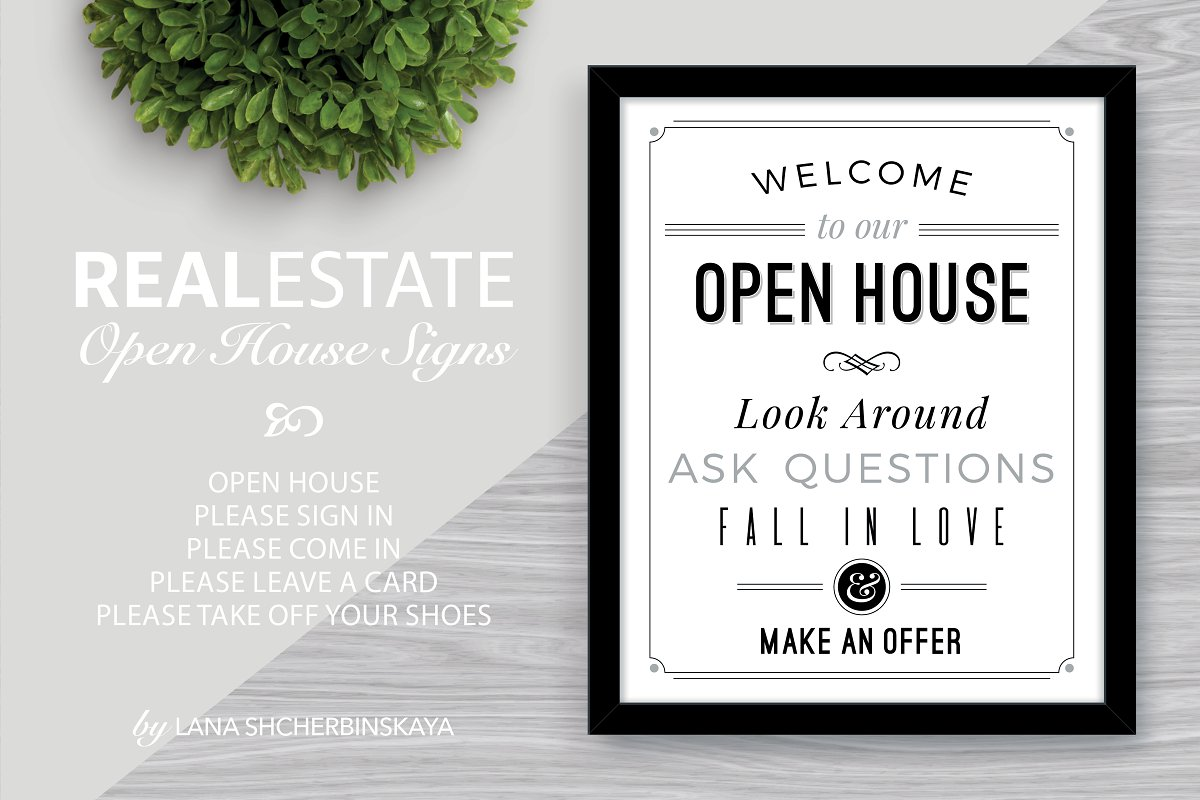 Welcome To Our Open House Signs Presentation Templates Creative