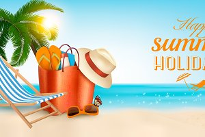 Vacation vector banner.