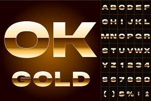 Vector of golden alphabet