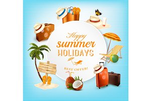 Summer Vector Banner Design
