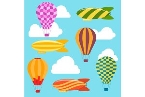 Air Balloons and Airships Background