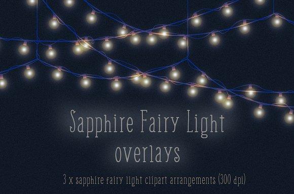 Sapphire Fairy Light Overlays