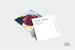 Marble Ecstasy Square Business Card