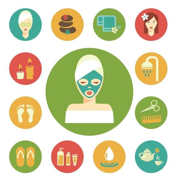 Vector Salon Spa Icon Set Icons Creative Market