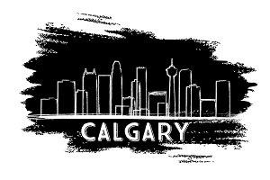 Calgary Skyline Silhouette.