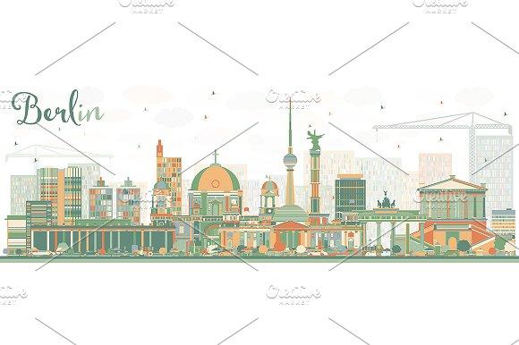 Abstract Berlin Skyline