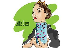 Quirky selfie