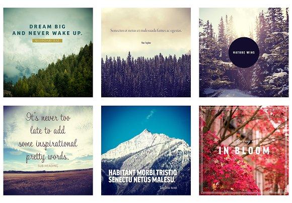 Nature Social Media Post Mockups