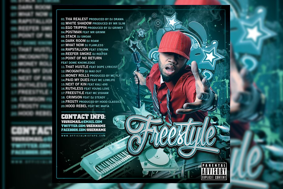 Freestyle CD Cover Template in Templates