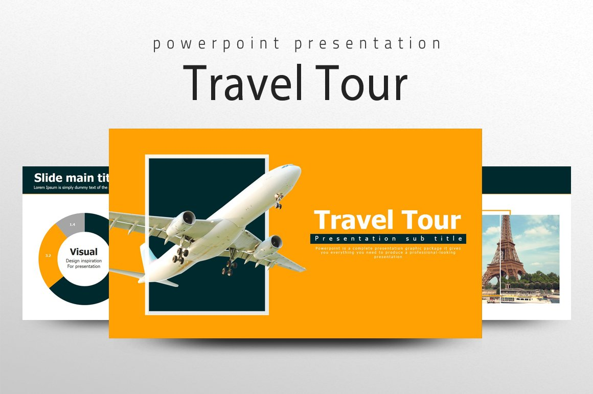 travel ppt template presentation templates creative market. Black Bedroom Furniture Sets. Home Design Ideas
