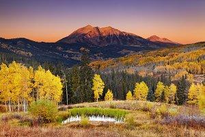 Autumn landscape, Colorado, USA