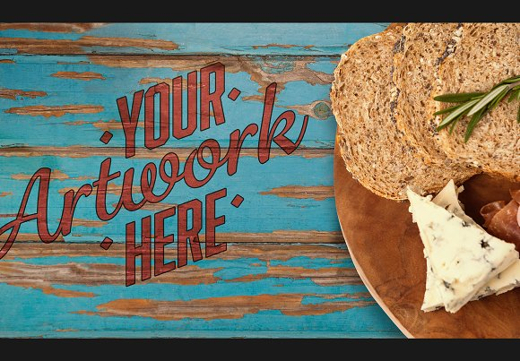 Bread On Table With Graphic Mockup