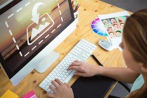 Graphic Designer Using Computer
