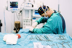 Surgeon Operating in the Hospital.