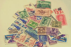 US vintage postage stamps