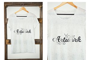 Womens T-Shirt On Hanger Mockup