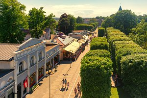 Central street of the city of Jurmala